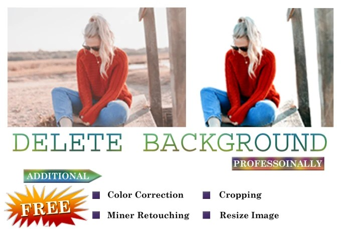 Delete background from photos by Zahidhussain457