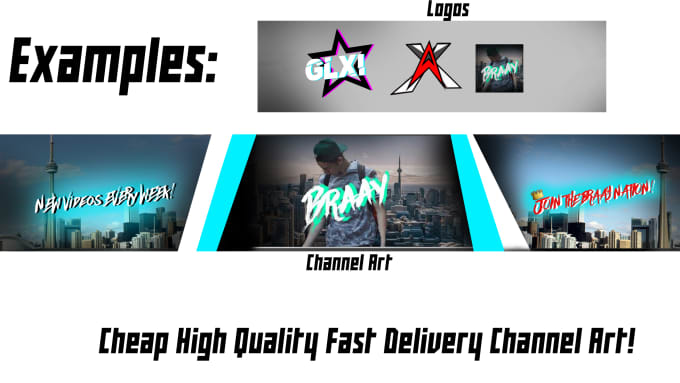 Make you custom youtube channel art by Braay19