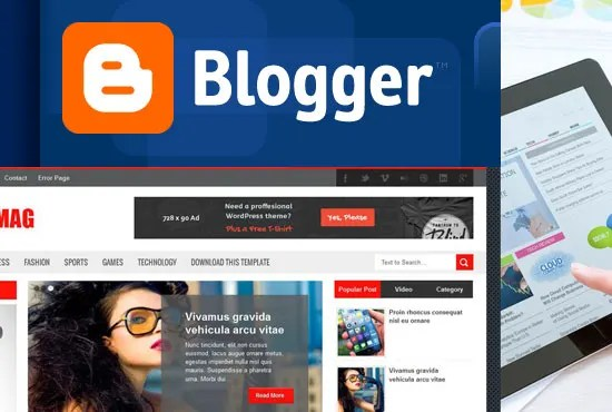 Design professional blogger blog or website for you by Nettspring