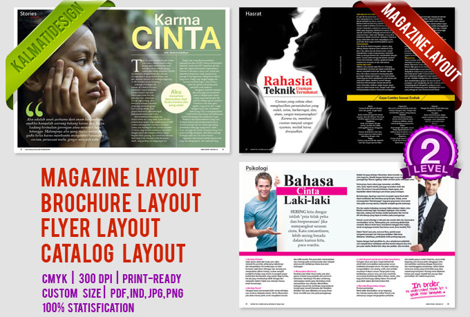 Do modern magazine layout,brochure,booklet,flyer by Kalmatidesign