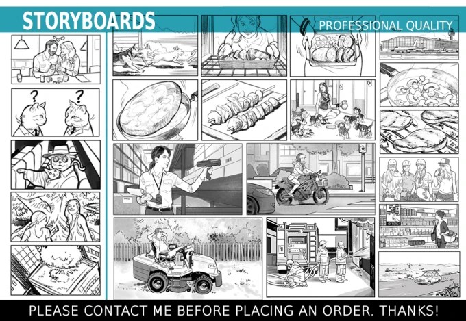 Draw storyboard with professional quality by Gastonv