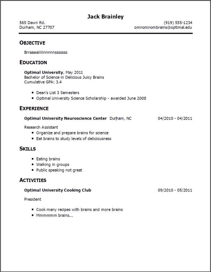 a r music resume example
