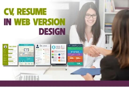 Design resume in personal website by Kenttran