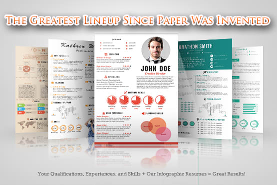 Write your resume on an infographic template by Theheadhunter