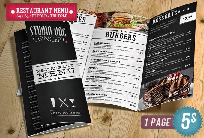 Design menu restaurant brochures by Smitherz