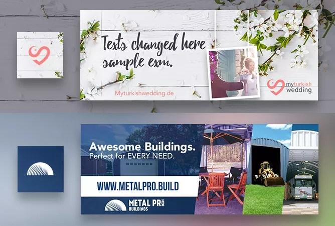Design Facebook Timeline cover banner thumbnail - sample facebook timeline