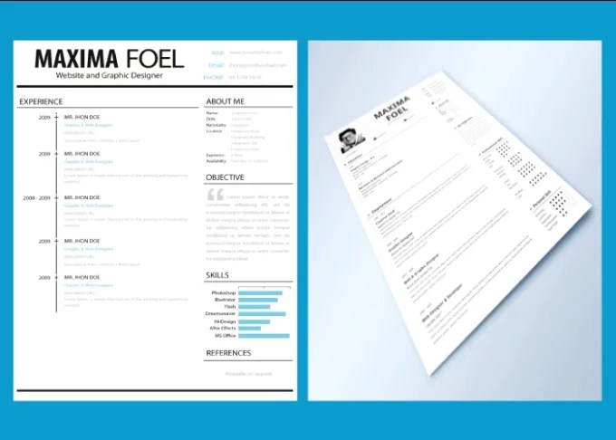 Create an eye catching resume, or curriculum vitae by Msjag416 - eye catching resume