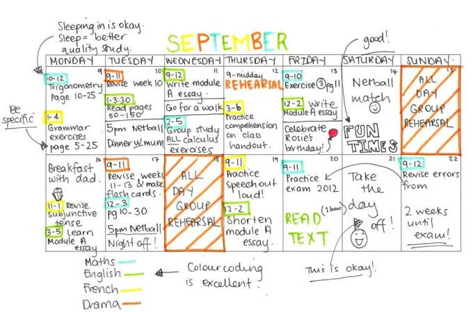 Make you a study timetable by Hansi14