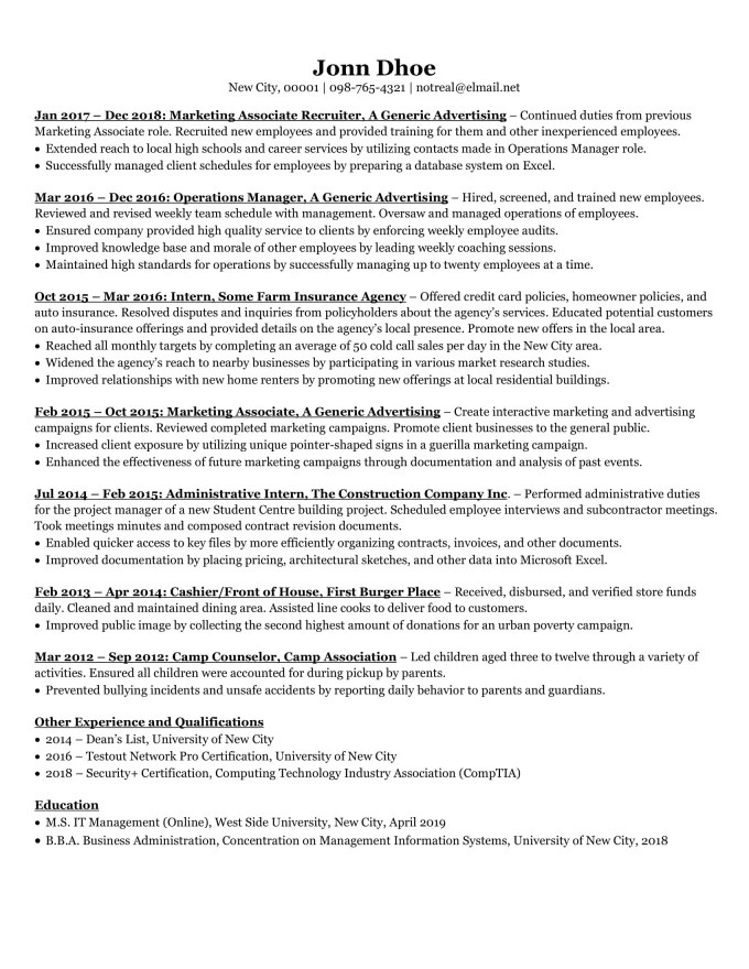 One page resume Fiverr