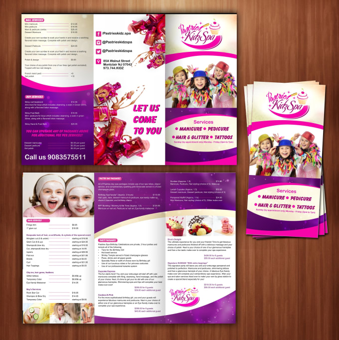 Make beauty salon flyer and brochure design within 24 hours by