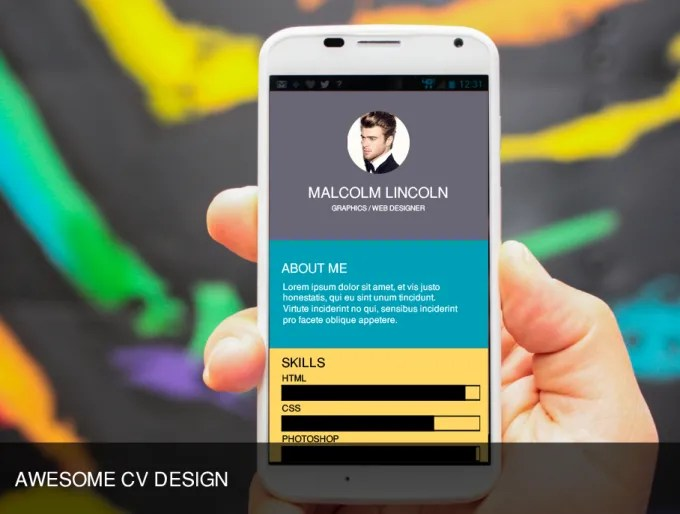 Create your portfolio cv or resume android mobile app by Kimsean