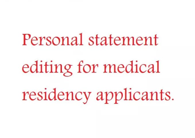 Proofread a medical residency personal statement by Hamzatahir761