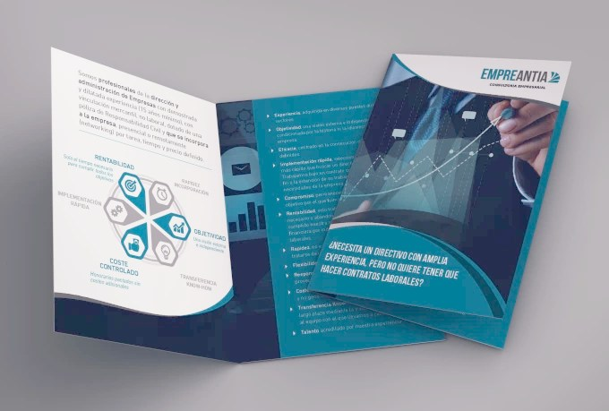 Design your corporate bifold brochure by Midoridesign