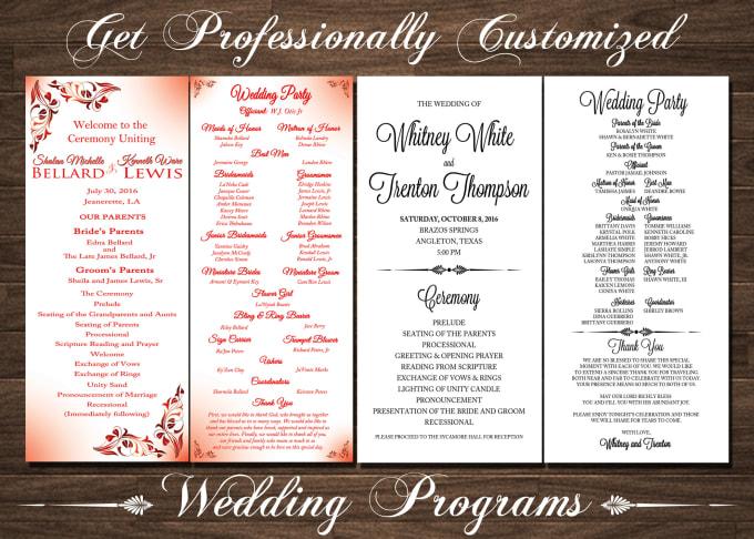 Design your wedding program by Natoyachung