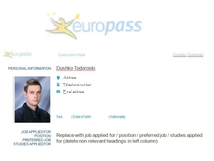 europass cv edit