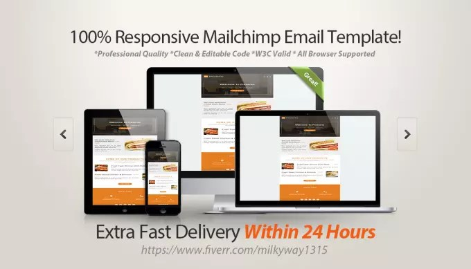Design responsive mailchimp email template by Milkyway1315