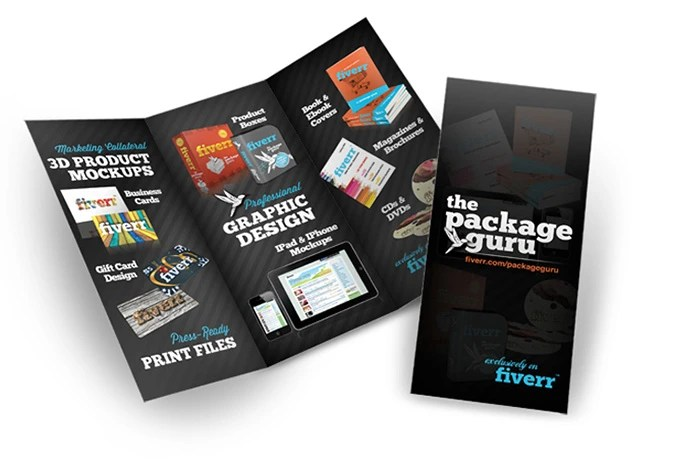 create a 3D mockup of your trifold brochure - create tri fold brochure