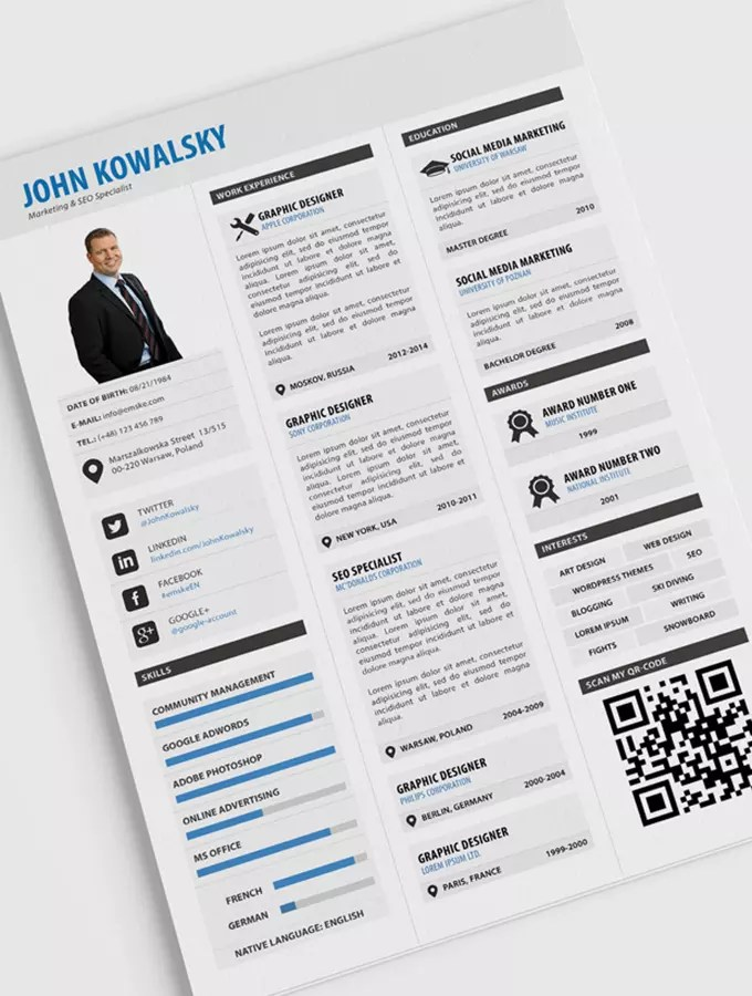 Design eye catching resume, cv for you by Asimmondal