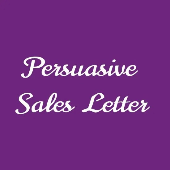 Write a brilliant and persuasive sales letter by Ahmed5432