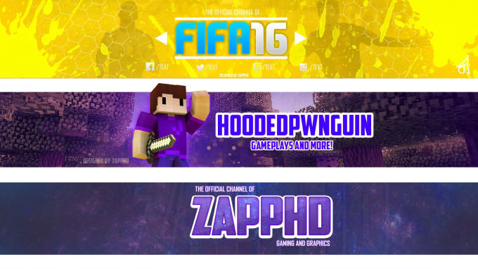 Design a minecraft youtube channel banner by Guycraft - how to make banner for youtube