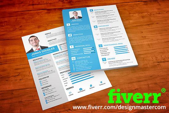 Do clean attractive resume design cv design by Designmastercom