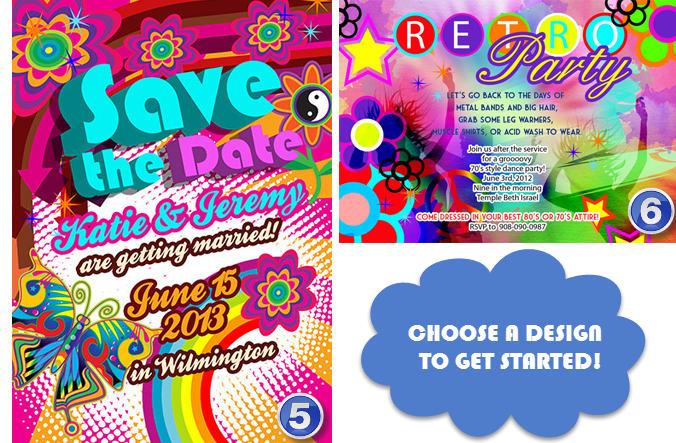 Design A Retro Revival 80s 70s 60s Party Invitation By