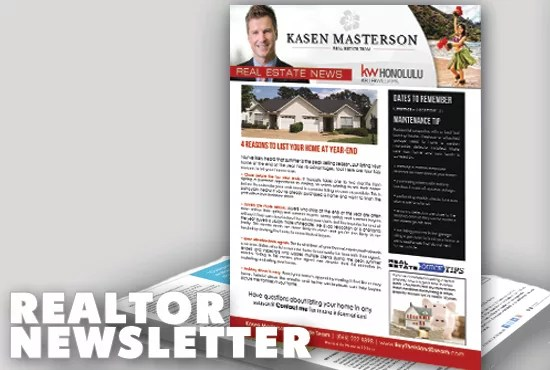 Design a monthly real estate marketing newsletter by Khyile