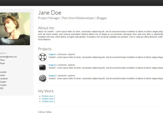 Give you a stunning clean minimalistic online personal or resume