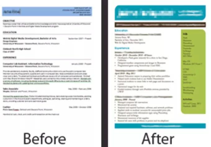 Design an eye catching resume by Bricklit