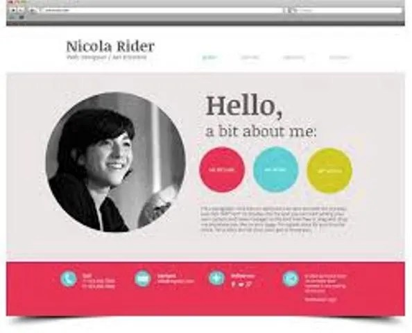 Create a personal website or resume webpage or landing page by