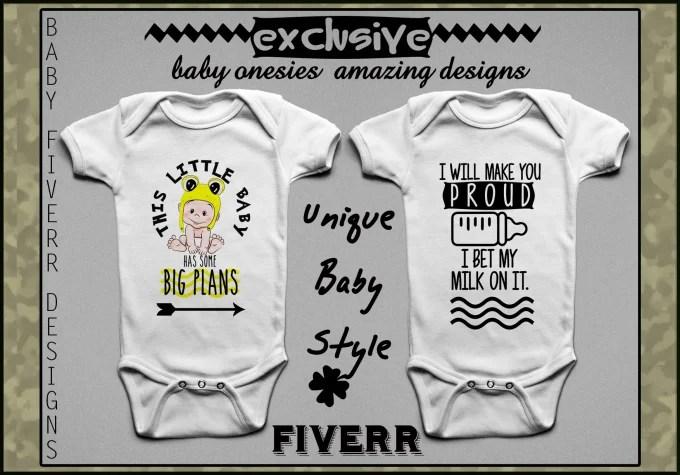 Create unique amazing baby toddler bodysuits onesies designs by - onesies designs