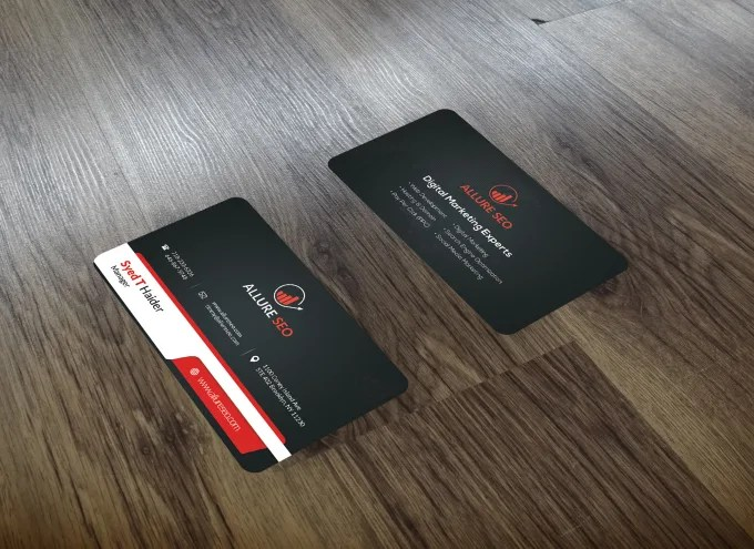 Design professional business and personal visiting cards by Allureseo