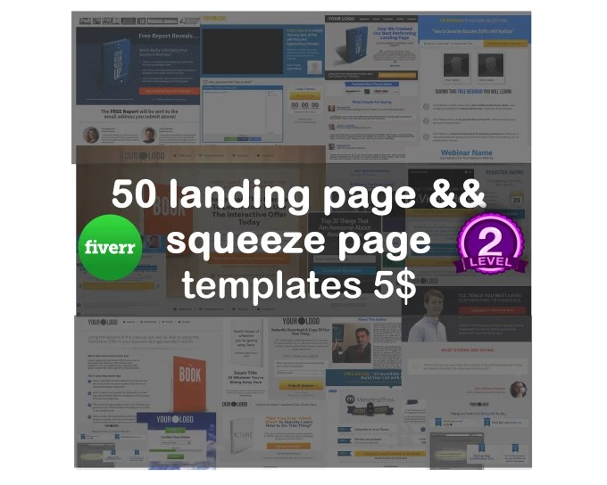 Give you 50 landing page and squeeze page templates by Faresdev7