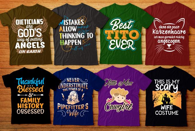 typography t shirt Fiverr