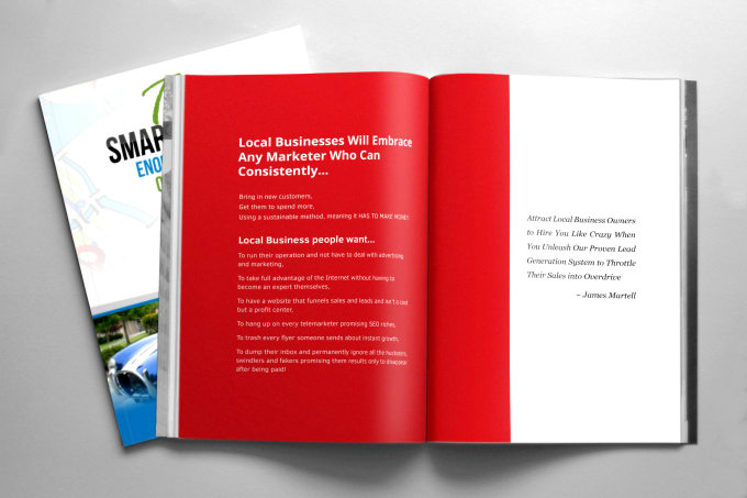 Design book, ebook interior or layout by Aminulv - video brochure template