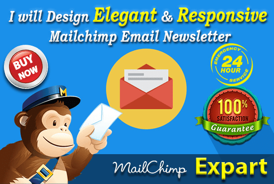 Design An Unique And Responsive Mailchimp Template By