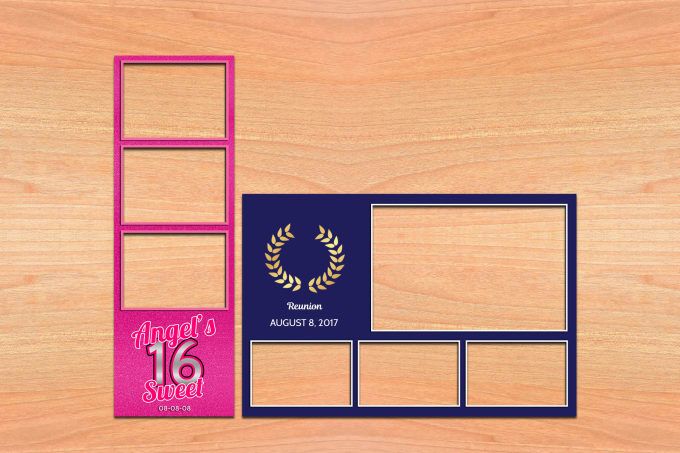 Design a photo booth template by Mistmi - po booth template