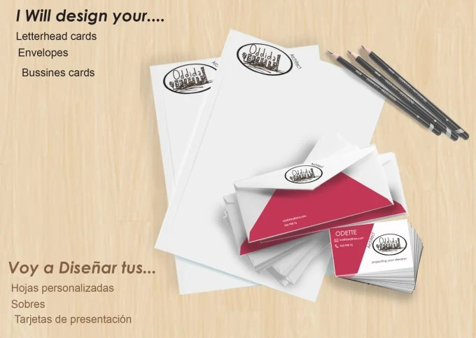 Design your letterhead, envelopes and business card by Oddida