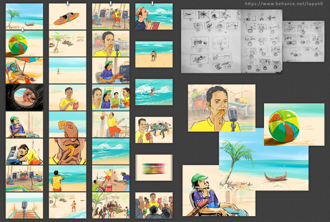 Draw storyboard, animatics and comic strips by Tapanshah