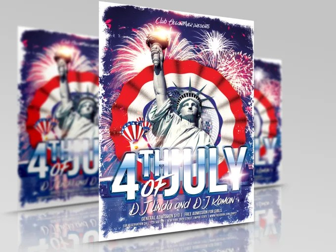 Design 4th of july independence day flyers by Dazzi618