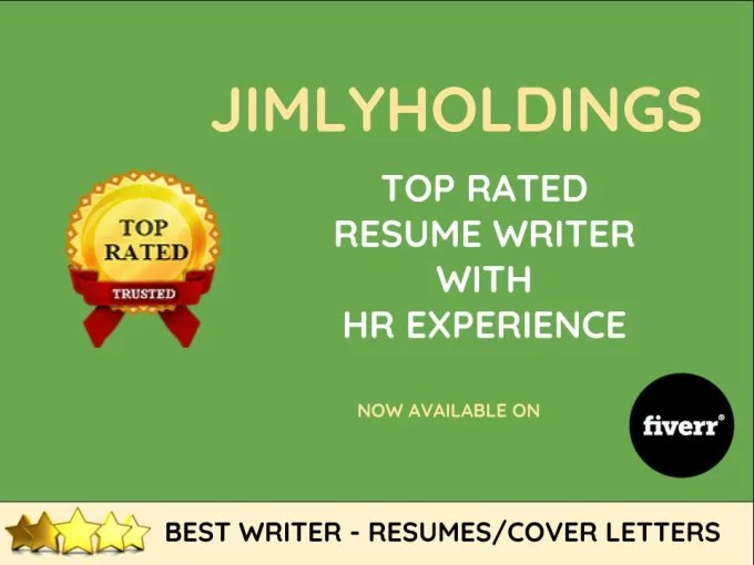 Offer, the best resume writing service in 2017 by Jimlyholdings