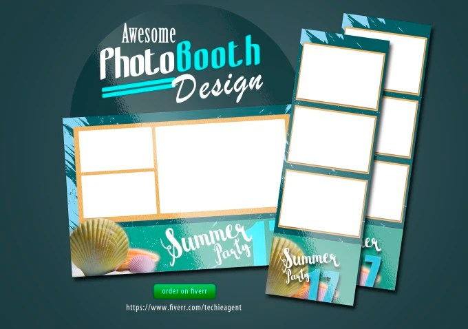 Do a smashing photo booth template design by Techieagent - po booth template