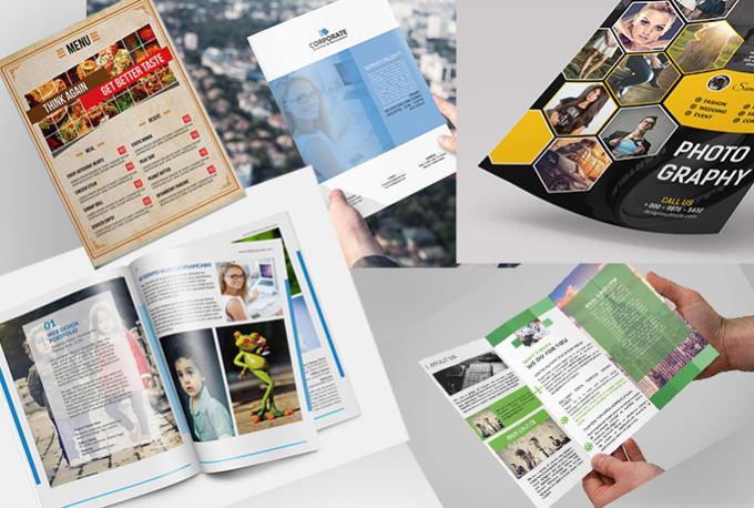 design trifold, flyer, poster, booklet, catalog, magazine brochure