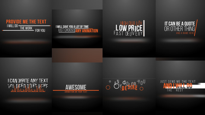Do awesome title and text typography animation by Robert_bobo - animation title
