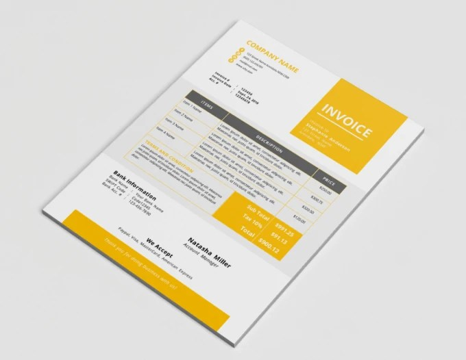Design corporate invoice template by Nazmussakib85