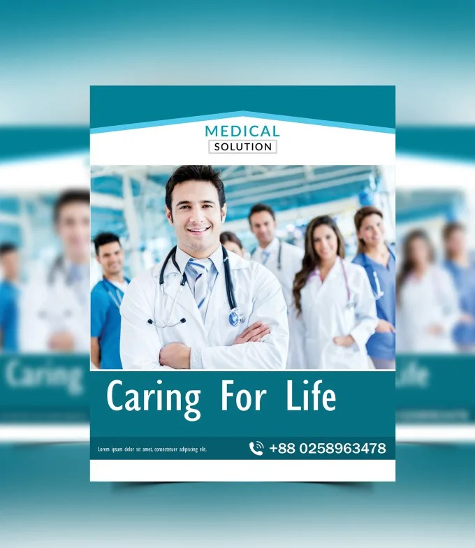 Make your attractive medical flyer design by Hp_habib