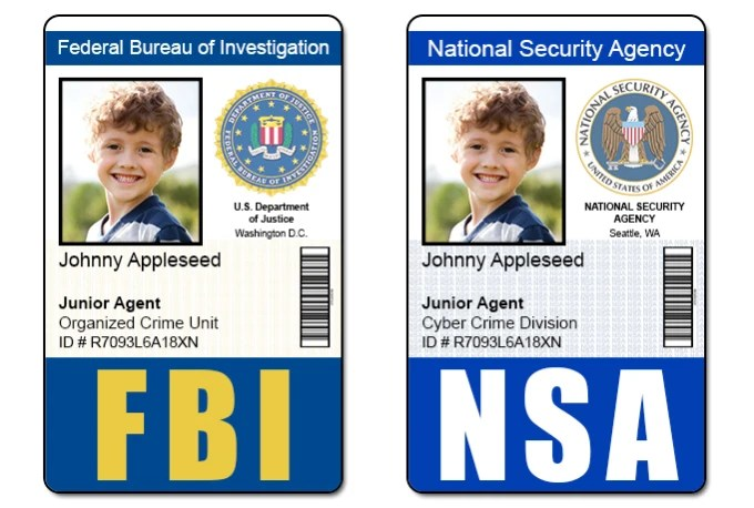 Send 1 fbi, cia, nsa, or dea id badge photoshop template by