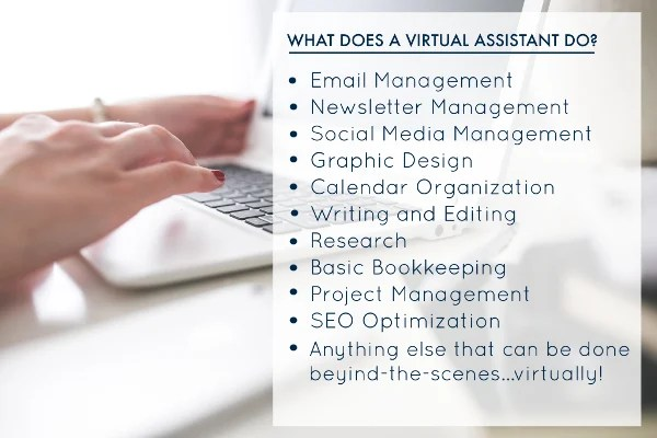 Do any virtual assistant jobs that you offer me by Queenellie05