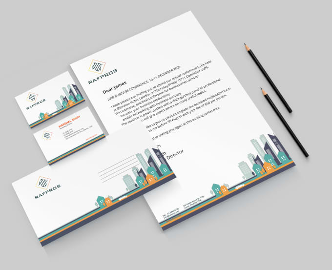 design SPECTACULAR corporate stationery Fiverr