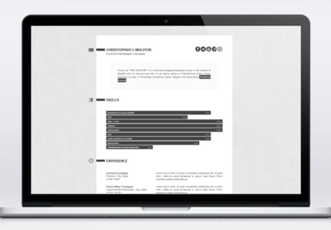 Setup a modern resume cv webpage to promote yourself in html5 by Harr1e